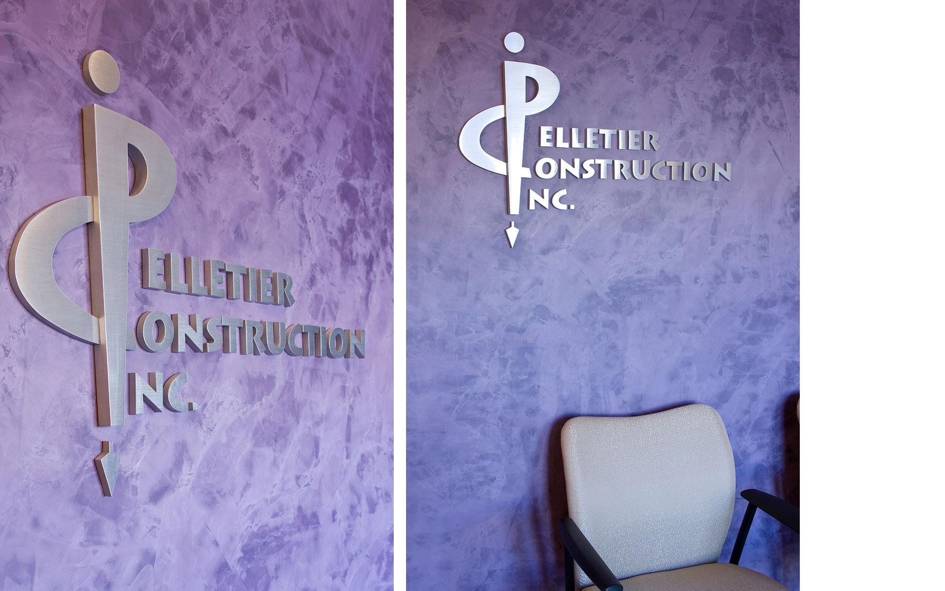Flat Cut Aluminum Logo