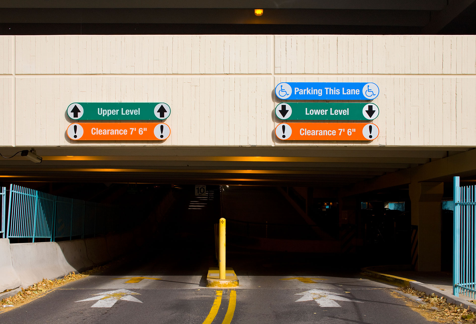 parking garage signs century sign builders