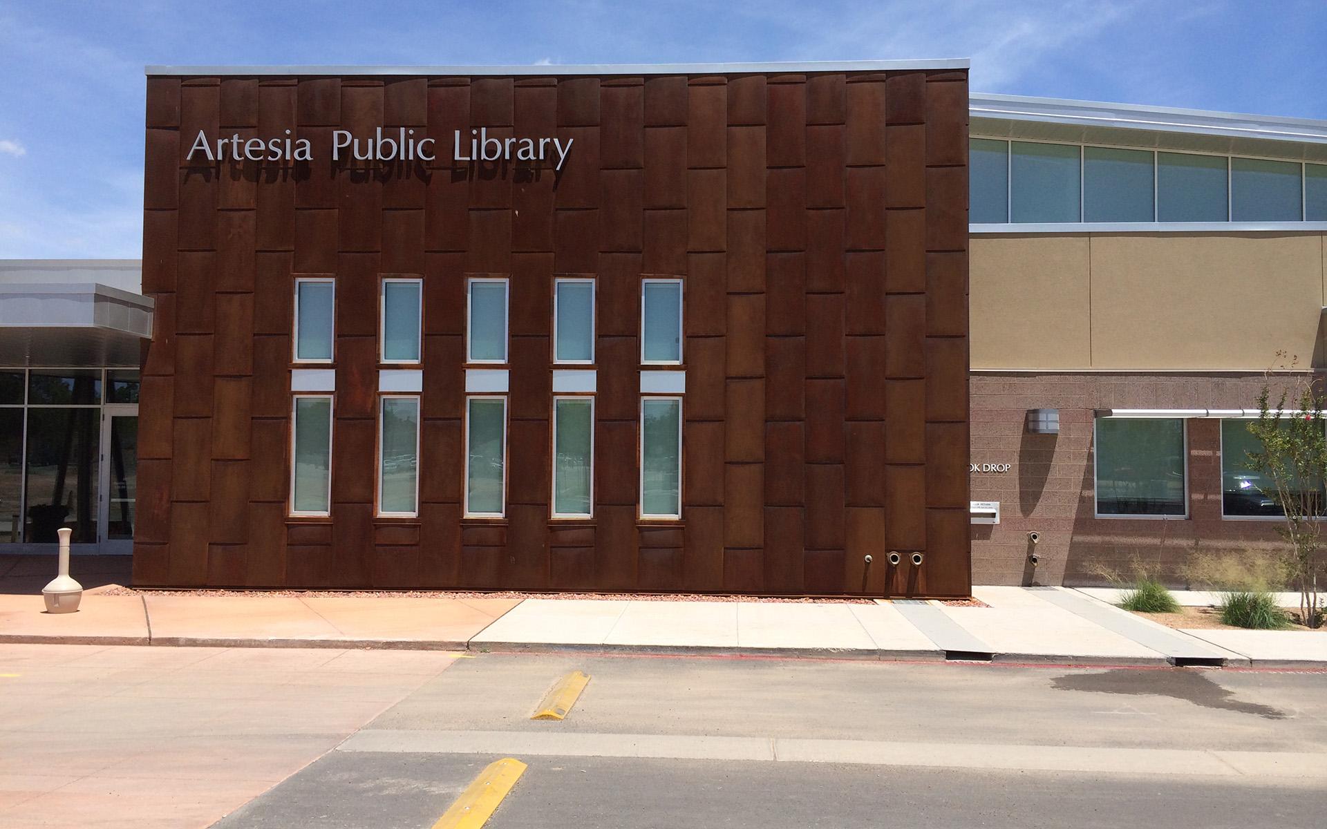 Artesia Public Library Cast Aluminum