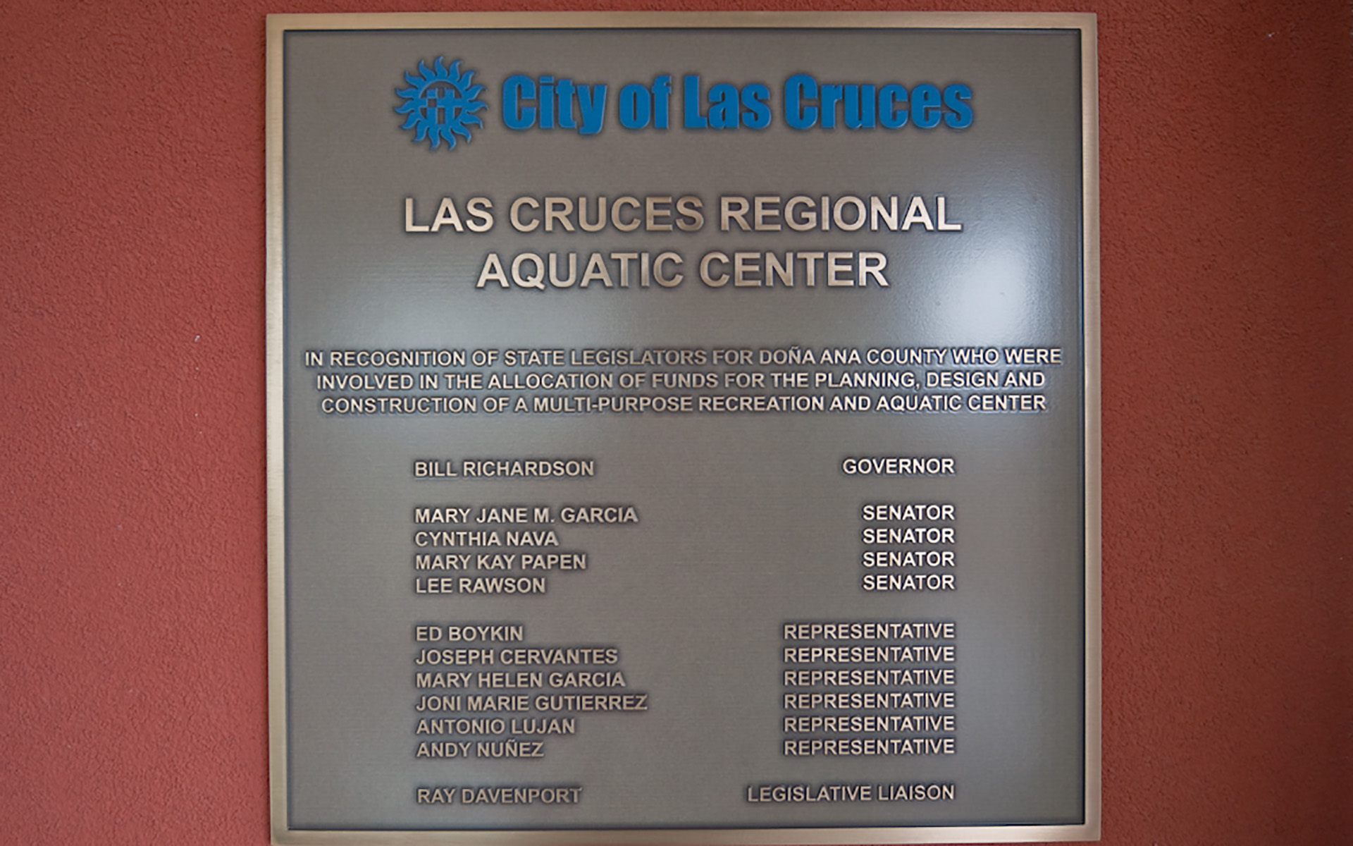City of LasCruces Cast Plaque