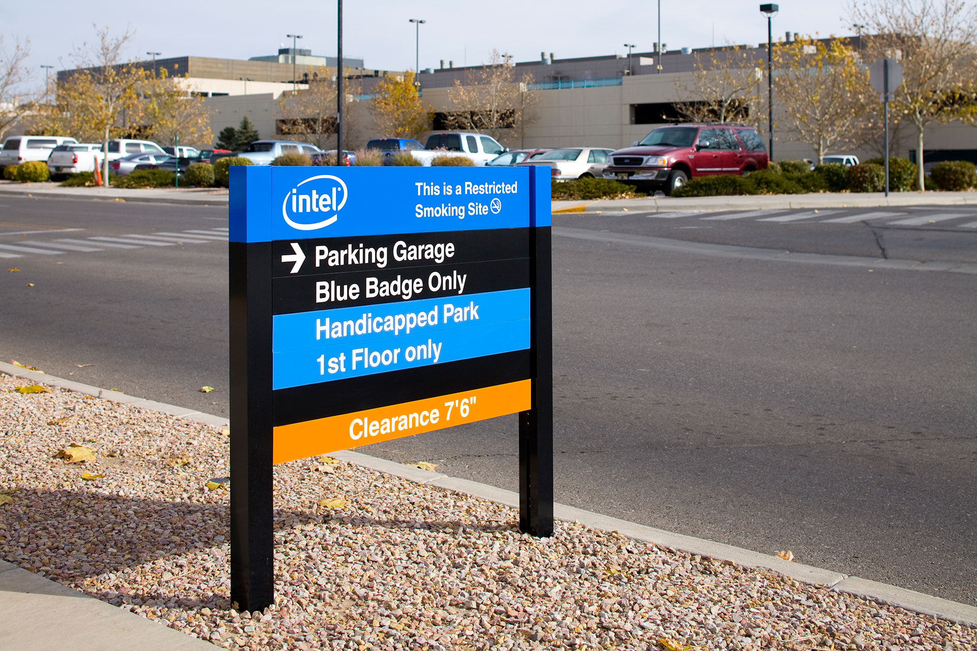 Intel Campus and Parking Garage Signage