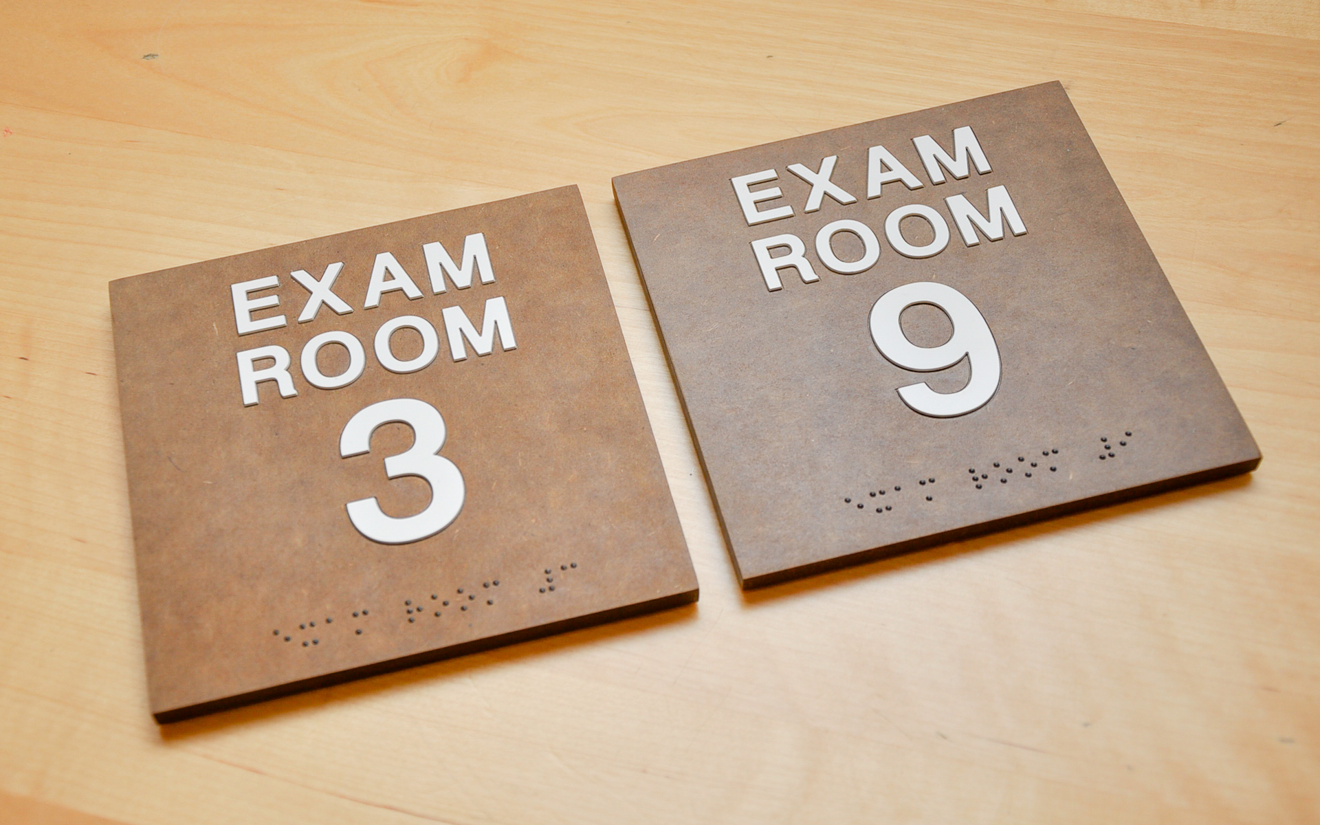 Texture Exam Room Signs