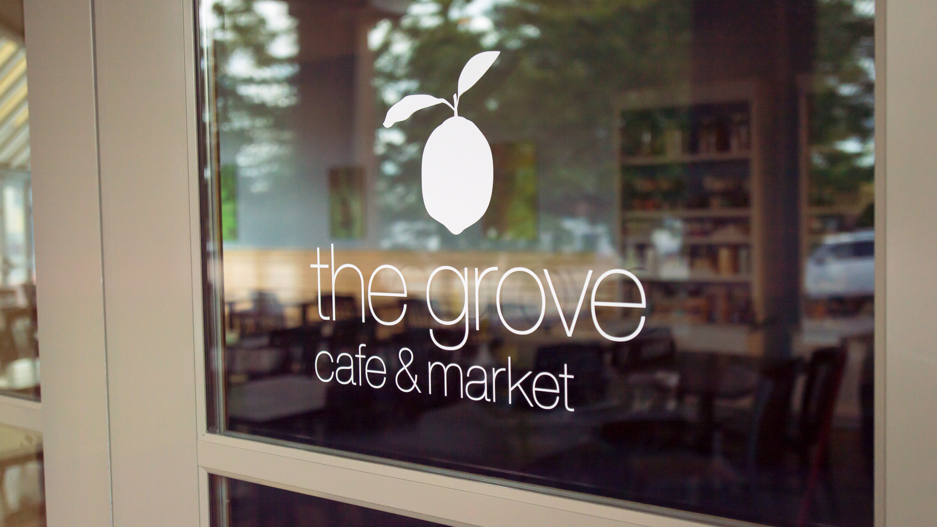 The Grove, White Vinyl Lettering