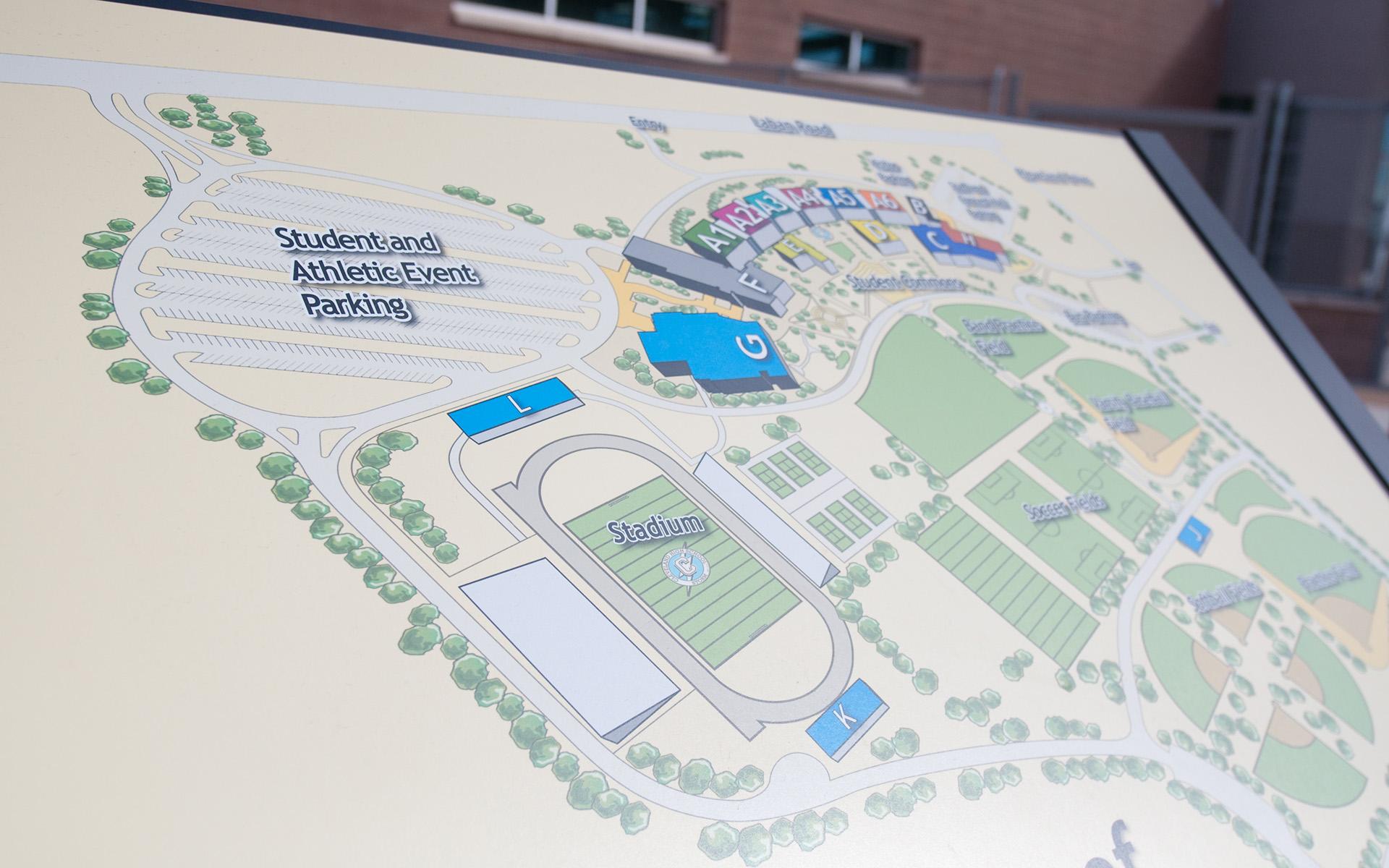 V Sue Cleveland High School Map